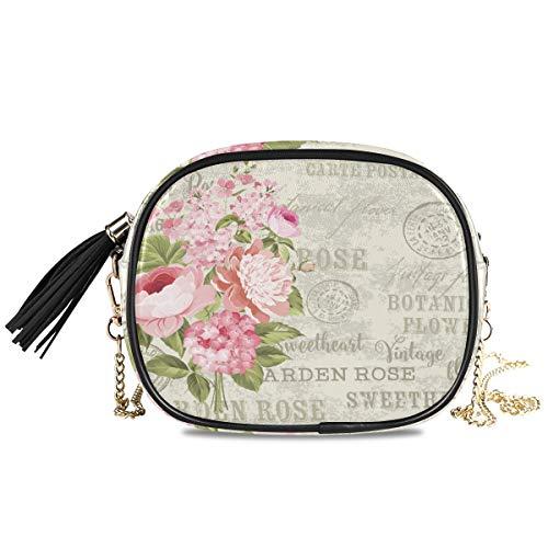 XiangHeFu Große Kapazität Telefontasche Münzkoffer Blumengirlande für Einladungskarte Mode Geldbörse Kartenhalter Geldbörse