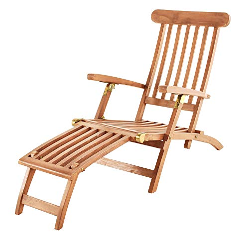 SAM Teak Holz Deckchair Bild