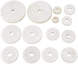 Mini Lathe Gear, Home Small Lathe Gear 14 Pieces Plastic Screwdriver Gear Kit for CJ0618 Series Lathe