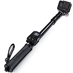"""✔ NEXT LEVEL GOPRO FOOTAGE - Telescoping from 15"""" to 50"""" and weighing just 10 Ozs, you can take close and wide angle shots while traveling, surfing, diving, snowboarding, skiing and much more ✔ INDUSTRIAL CNC ALUMINUM BUILD - Made from Waterproof Alu..."""