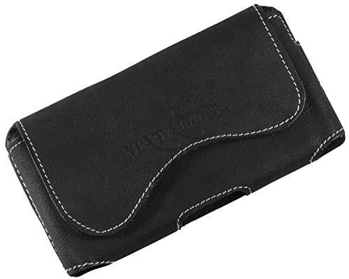 MATADOR Handy Tasche Leder kompatibel mit Samsung S10 / S20 Gürteltasche Ledertasche Gürtelclip/Schlaufe (Crazy Black)
