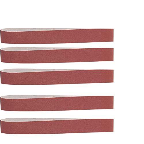 FMXKSW Schleifband 10 Stück 40x740mm Schleifbänder P60 - P800 Schleifsiebband für das Polieren von Weichmetallschleifen aus Holz, P120