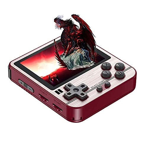 FXQIN Portable Retro Games Console with 128G TF Card and 23000 Classic Games, Quad core Opendingux System,Handheld Video Games Consoles for Kids Adults, 2.8 Inch IPS Screen
