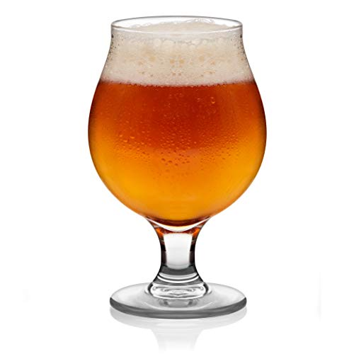 Libbey Craft Brews Classic Belgian Beer Glasses, 16-ounce, Set of 4