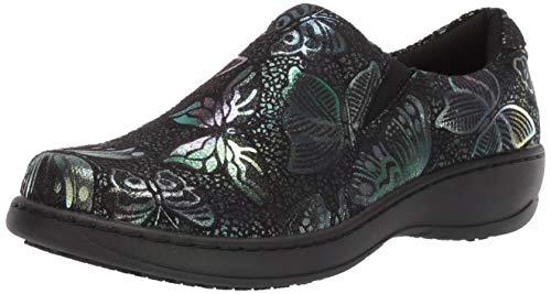 Spring Step Professional Women's Winfrey-Flutter Uniform Dress Shoe, Black Multi, 9.5 Wide US