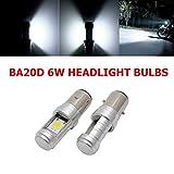 Maso 2 unids BA20D H6 6 V COB Hi/Lo Beam motocicleta delantera bombillas LED faro motocicleta faro