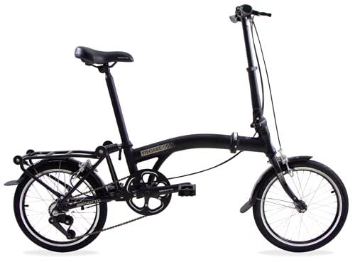 Benotto Bicicleta Plegable PIEGARE R16 3V Aluminio Frenos V - Negro
