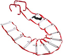 Emergency Fire Escape Ladder, Portable Ladder With Anti-Slip Rungs And Wide Steps V Center Support, Easy To Deploy & Easy To Store (2 Story - 15 Foot)