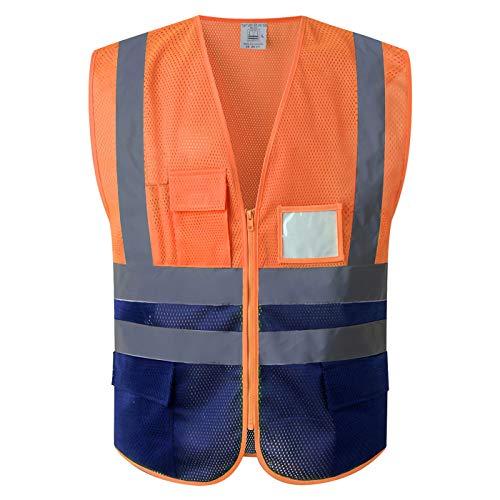Chaleco de Trabajo de Tejido de Malla Permeable al Aire Alta Visibilidad (L-Pequeña, Malla Amarilla (Tamaño Pequeño))