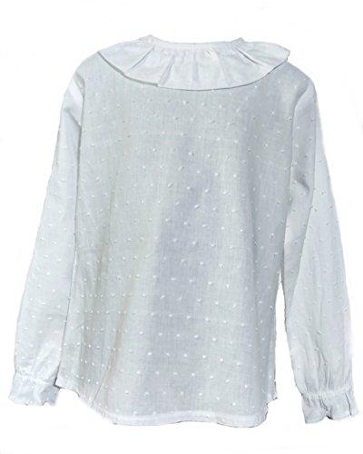 Camisa de Niñas 100% Algodón |Tallas Entre 3 y 10 Años | Blusas de Manga Larga para Niña | Hecha en España con la Máxima Calidad