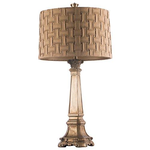 Continental lyxig inredning bordslampa vardagsrummet sovrummet säng studie Golden skrivbordslampa
