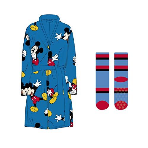 Artesanía Cerdá-Mickey Bata T5-6 y Calcetines Suave Azul, Color CRD-2200003635-M: 05/06 Years-Pearl