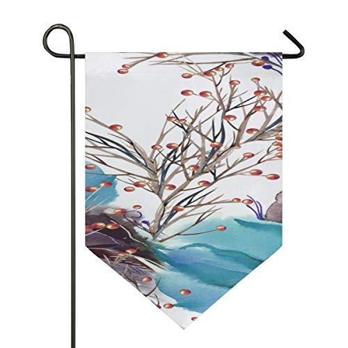 YXUAOQ Gartenflagge Weihnachten nahtlos Amaryllis Aquarell Flaggen dekorieren doppelseitig 12 x 18,5 Zoll / 28 x 40 Zoll Home Yard Decor Banner im Freien