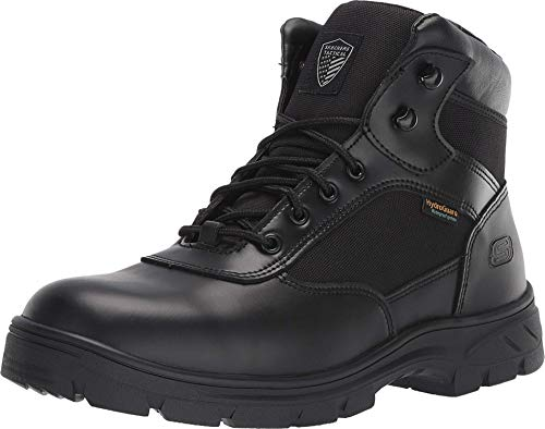 Skechers Men's New Wascana-Benen Military and Tactical Boot, Black, 10.5