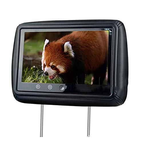 Roboraty Auto-KopfstüTzen-Monitore, 10-Zoll-High-Definition-Touchscreen-Player, Dual-AV-Fernseher Mit DVD-Anschluss Zur Videowiedergabe, 150 ° Sichtbarer Bildwinkel, AuflöSung 800 * 480,Black