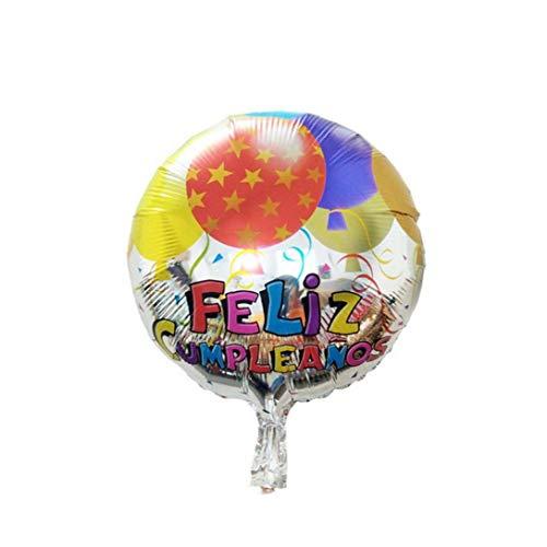 Papel De Aluminio 18inch Globos Del Feliz Cumpleaños España Del Partido Globos Decoraciones Para El Cumpleaños De La Decoración De La Boda
