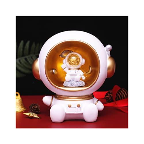Lámpara de mesa, habitación de los niños luces de la luna astronauta lámparas de noche...