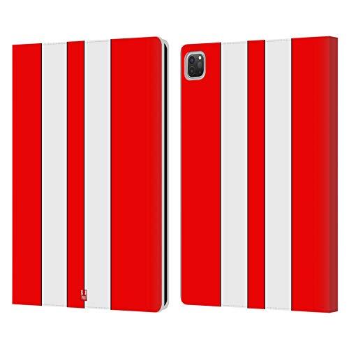 Head Case Designs Coche De Carreras Rojo Pinturas de Transporte Carcasa de Cuero Tipo Libro Compatible con Apple iPad Pro 12.9 (2020/2021)