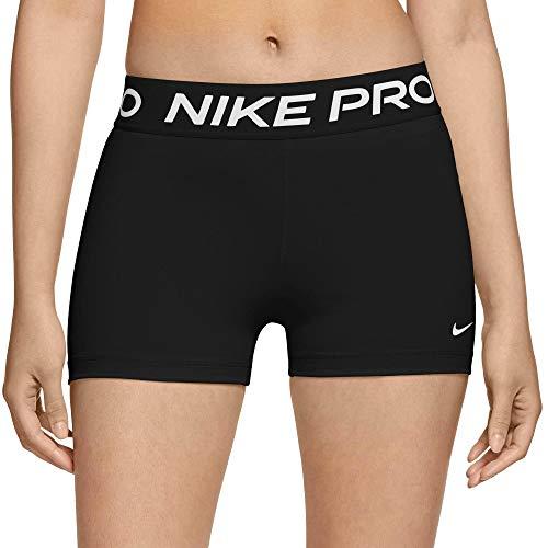 Nike W NP 365 Short 3', Pantaloncini Donna, Black/(White), M