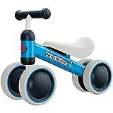 YGJT Bicicleta sin Pedales 1 Año Juguetes Bebes - Triciclos Bebes- Correpasillos Bebes 1 Año Regalo para 1 Año (Azul)