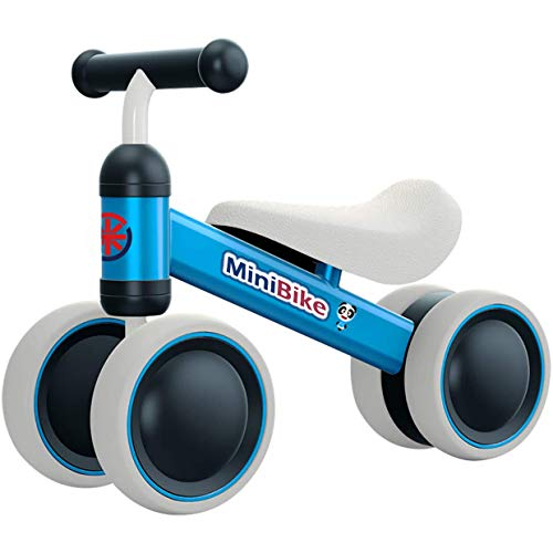 YGJT Kinder Laufrad ab 1 Jahr | Fahrrad Spielzeug für 10 - 24 Monate Junglen und Mädchen | Rutschrad Baby Geschenk für Ersten Geburtstag Neu Jahr (Blau)