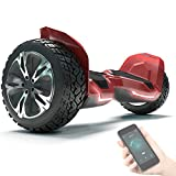 Bluewheel 8.5' Hoverboard patín eléctrico HX510 con UL2272 estándar de Seguridad, Cambia de Color con la App, Altavoz Bluetooth, Motor 700W, Patinete eléctrico con Cobertura de Aluminio (HX510 Rojo)