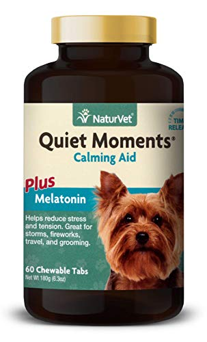 NaturVet - Calmant pour Chien Naturel Anti-Stress apaisant Relaxant 60 comprimés