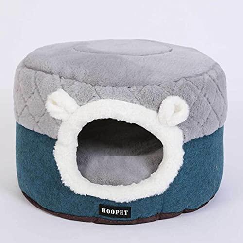 ZSDFW Cama de gato 2 en 1 Cama de perro plegable autocalentable Cama para mascotas para gatos, casa de perro, sofá de perro, cueva de dormir para mascotas para perros y gatos, M
