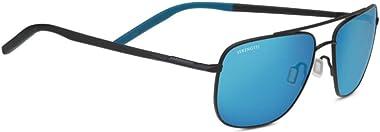 Serengetti Sport Sunglasses Metal Matte Black and Black and Blue Blue