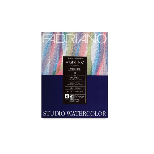 Savoir Faire Fabriano Studio WC Pad 9X12 CP 300G 50 Shts,White