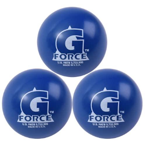 Mylec G-Force Hockeybälle für kaltes Wetter, mit Flüssigkeit gefüllt, Blau, 3 Stück