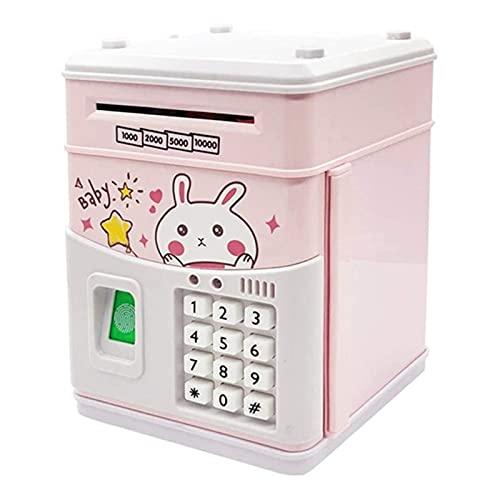 YSYSPUJ Hucha Electronic Piggy Bank Kids Coin Bank con código, Bancos de Dinero electrónicos Caja de Dinero para niños, Niños Banco Seguro (Color : Pink)
