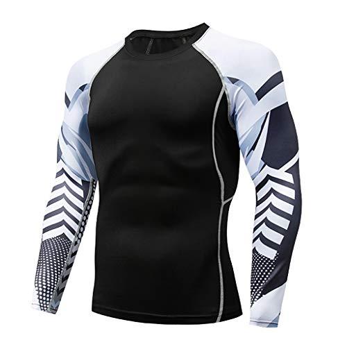 RANTA 2020 Sales Herren Kompressionsshirt Unter 5 Euro Thermisch Männer Atmungsaktiv Funktionswäsche Base Layer Langarm (Mock/Rollkragen) Sweatshirt