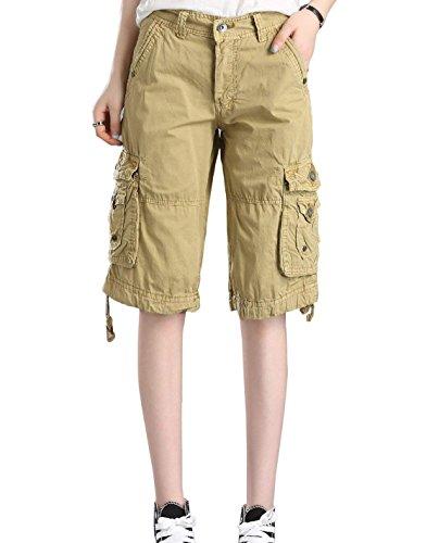 Minetom Mujeres Bermuda Cargo Pantalones Cortos Verano Stretch Suelto...