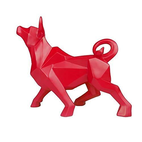 L.TSN Esculturas abstractas del Toro, Ornamento Animal Moderno de la estatuilla geométrica del Buey para la decoración del hogar del Hotel del café