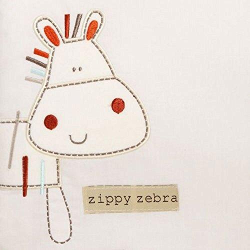 Bed-e-Byes Zippy Zebra 167 x 183 cm de ruban dans une boîte avec rideaux 1-tog Spike and Buzz