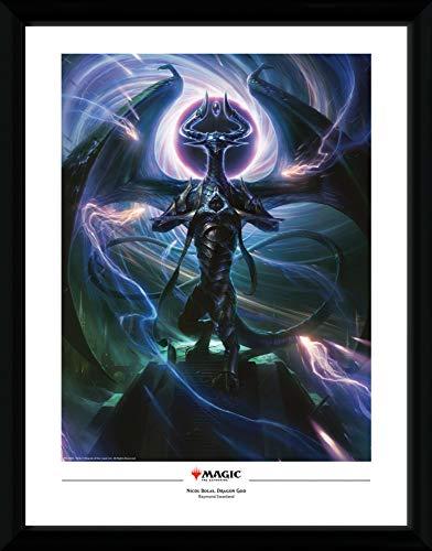 1art1 Magic El Encuentro - Nicol Bolas, Dragon God Póster De Colección Enmarcado (40 x 30cm)