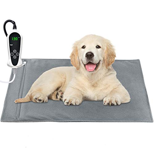 RIOGOO Pet Heating Pad, Upgraded Electric Dog Cat Heating...