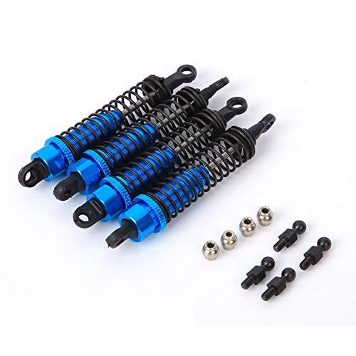Amortiguadores de Coche RC, Accesorio de amortiguadores Delanteros y Traseros de Coche RC de 80 mm para RGT 136100 1/10(Azul)