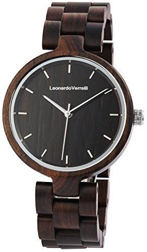 Damen Holzuhr Armbanduhr Leonardo Verrelli walnussbraun