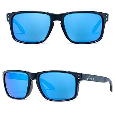 Bnus italy made classic sunglasses corning real glass lens w. polarized option