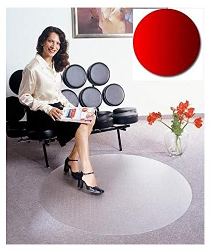 Floordirekt PRO Bodenschutzmatte - 90cm - rund - für Teppichböden