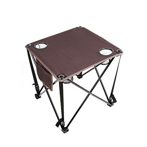 HHGO Handige klaptafel, multifunctioneel canvas vrije tijd tafel, kunststof indoor-picknick partytafel campingtafel