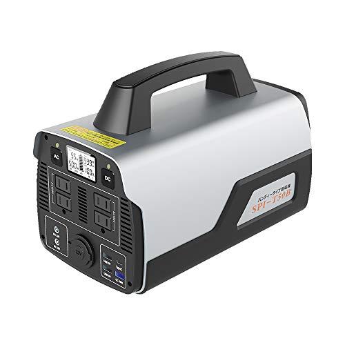 グッドグッズ(GOODGOODS) ポータブル電源 大容量 家庭用蓄電池 140000mAh/518Wh 純正弦波 AC500W/DC/USB/Type-Cなど出力 急速充電QC3.0搭載 車中泊 アウトドア 防災グッズ SPI-T50B