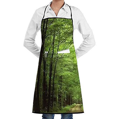 Chef Apron diep in het bos dikke groene vegetatie boom natuur muismat schort keuken dames grillen tuin mannen 'S koken vrouwen' S groot geschenk vriend vrouw mannen