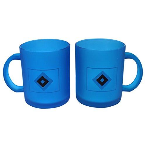 Hamburger SV - Tasse Frozen Kaffetasse Kaffeebecher blau milchig 0,3l
