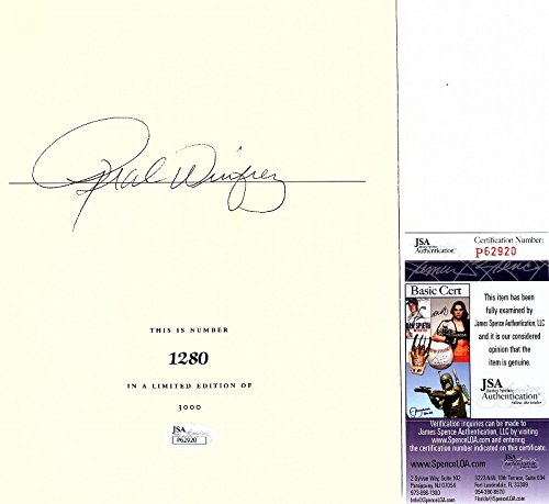 Oprah Winfrey Signed - Autographed 9x7 inch Title Page from Book - Full Signature - JSA Certificate of Authenticity