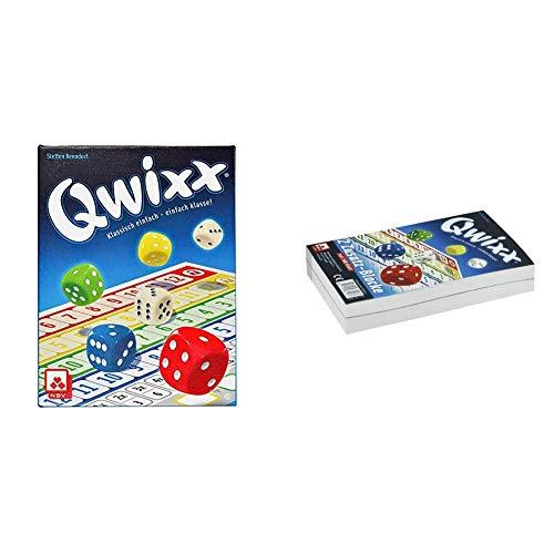NSV - 4015 - QWIXX - nominiert zum Spiel des Jahres 2013 - Würfelspiel & 4016 - QWIXX - Ersatzblöcke 2-er Set - Würfelspiel