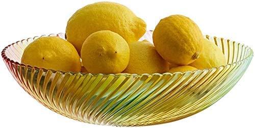 COLiJOL Fruit Dish Fruit Plate Fruit Bowl Flat Made of Transparent Glass Flat Made of Transparent Glass Fruit Basket (Color : Clear, Size : 28X28X8Cm),28X28X8Cm