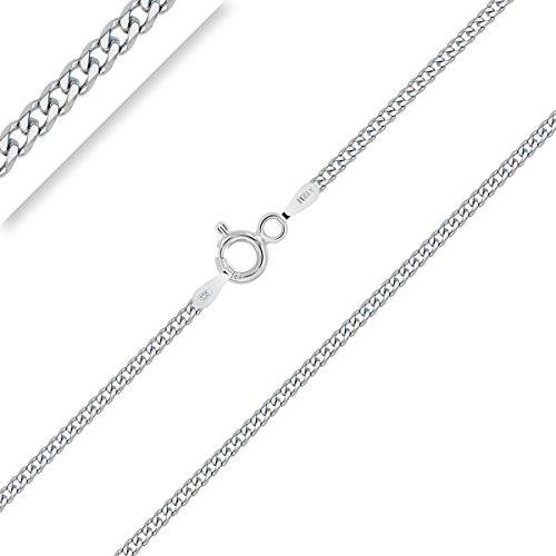 PLANETYS - Kinder und Baby Panzerkette 925 Sterling Silber Rhodiniert Kette - Halskette - 1.5 mm Breite Längen: 32 cm